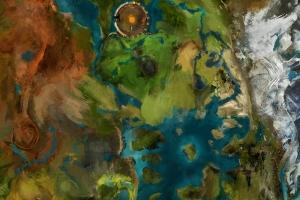 Auschnitt der Guild Wars 2 Karte